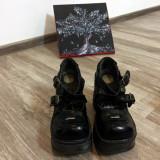 Pantofi New Rock Neo Cuña/M-sp9842-S2, 37 2/3, Negru, Cu platforma