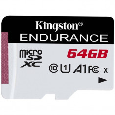 Card Kingston microSDXC High Endurance 64GB Clasa 10 UHS-I