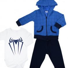 Costum din 3 piese cu model Spiderman HBT100
