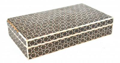 Cutie veche pentru pastrare bijuterii micro mozaic persan in forma de stea foto