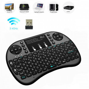 Mini tastatura wireless Smart TV, PC, tableta, PS3, touchpad compatibila Android, Rii i8+