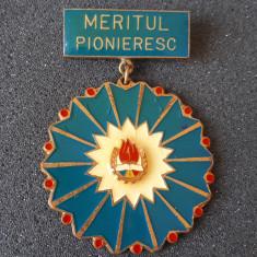 Insigna Meritul Pioneresc - Rara - Pionieri