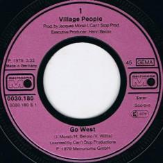 """Village People - Go West (1979, Metronome) Disc vinil single 7"""""""