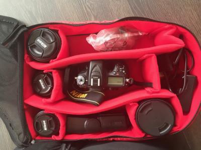 Vand aparat foto Nikon D7100+obiective+accesorii+rucsac foto