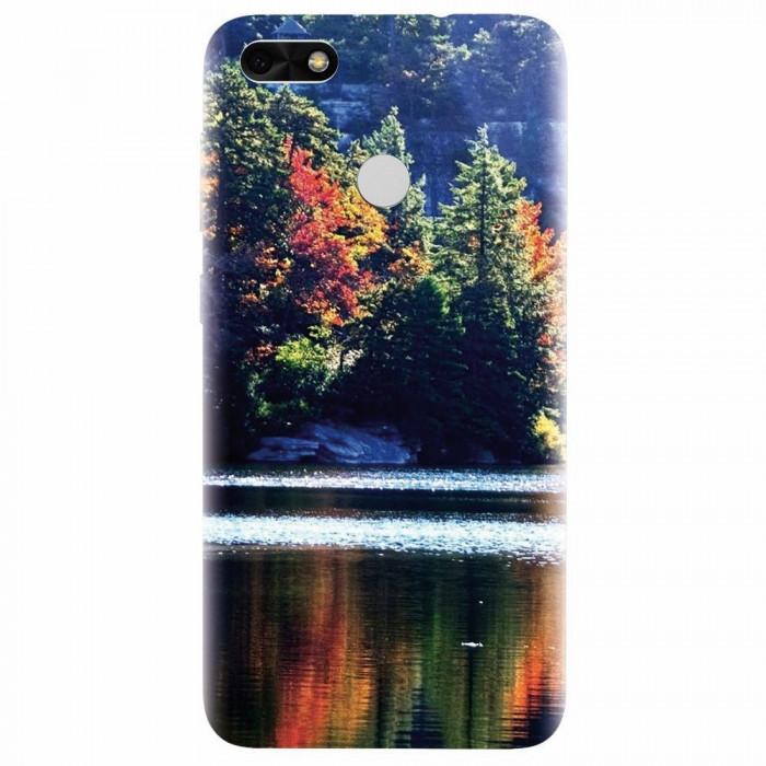 Husa silicon pentru Huawei P9 Lite, Lake Minnewaska Autumn