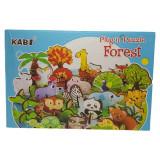 Plansa Cu Puzzle 3D din Lemn Ferma Animalelor Kabi