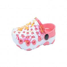 Papuci din cauciuc pentru fetite NN T818-1CO, Coral