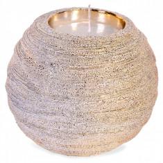 Suport lumanare de craciun, model vintage, 5×9 cm, auriu
