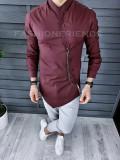 Camasa asimetrica grena - Japas style - camasa barbati A1009