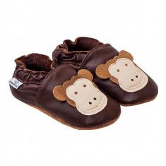 Papucei piele Funny Monkeys