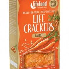 Lifecrackers cu morcovi raw bio 80g