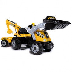 Tractor cu Pedale si Remorca Builder Max Galben