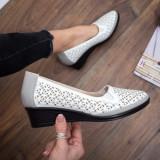 Pantofi Sadoki albi cu platforma -rl
