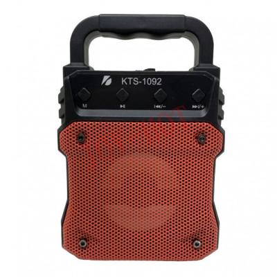 Boxa Bluetooth KTS-1092 radio, mp3, telecomanda + microfon karaoke , 18 cm inaltime foto