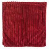 Fata de perna, model flannel, bordeaux, 45×45 cm