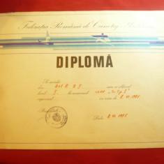 Diploma a Federatiei Romane de Canotaj-Yachting -1975