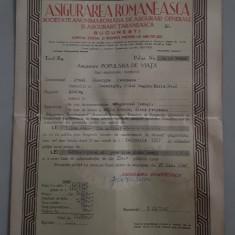 Polita de asigurare - Asigurarea Romaneasca - 1947