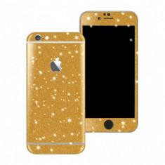 Folie autocolanta cu sclipici pentru Iphone 7 Plus, auriu