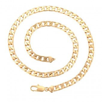 Lant Anebris dublu placat aur 18K,lungime 55cm,grosime 0,8cm,45grame