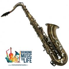 Saxofon Tenor VINTAGE ANTIK Karl Glaser® Bb (Si bemol) sax curbat NOU