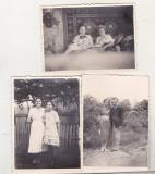Bnk foto - lot 3 fotografii portrete - Foto G I Hansa Ramnicu Sarat, Alb-Negru, Romania 1900 - 1950