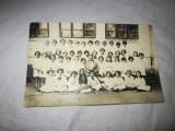 Foto veche clasa de fete atentie este lipita cu scoci pe spate alb 756