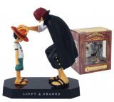 Figurine One Piece Luffy Shanks Emperor 19 cm anime