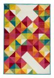 Cumpara ieftin Covor Modern & Geometric Alexia, Multicolor, 67x120 cm, Dreptunghi, Polipropilena, Living, Decorino
