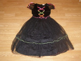 costum carnaval serbare vrajitoare pentru copii de 7-8 ani