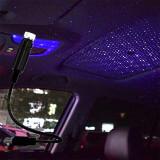 Proiector cu lumina laser ambientala cu stele,pt masina+usb,universal-ALBASTRU