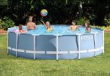 Piscina Familie Relaxare Rotunda Cadru Metal 457x107cm + Scara + Pompa + Prelata