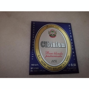 Eticheta bere Romania - CIBINIUM - Sibiu  !