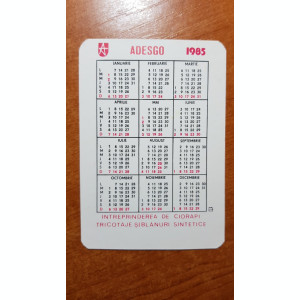 calendar de buzunar 1985 - adesgo