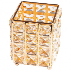 Suport Pensule Crystal, Star Gold