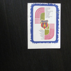 Steaua Bucuresti 1972 - (calendar de buzunar)