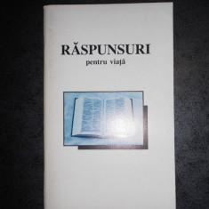 RASPUNSURI PENTRU VIATA (THE BIBLE LEAGUE)
