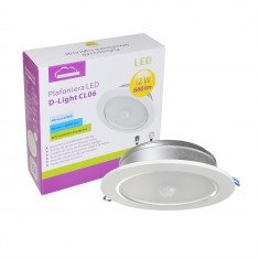Resigilat : Plafoniera LED SilverCloud D-Light CL06 12W cu 2 senzori de lumina si