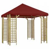 Pavilion, roșu bordo, 3 x 3 m (310032 + 46620)