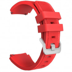 Curea silicon, compatibila Samsung Gear 2 Neo, telescoape Quick Release, 22mm, Red