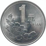 1 Yuan 1994 - 1995 China, Asia, Nichel