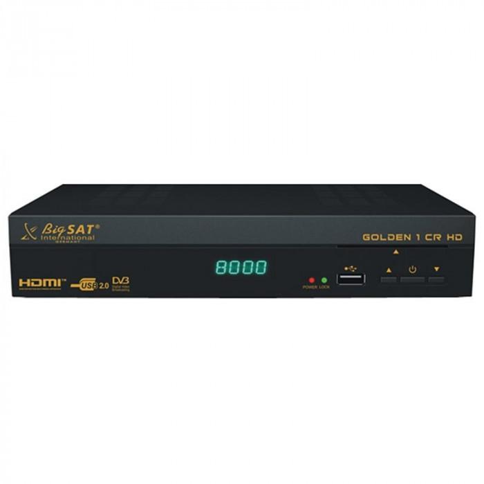 Receptor Satelit Bigsat Golden, 1 CR HD, DBV-S2, cititor carduri Conax