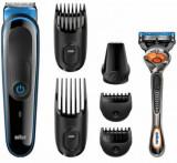 Kit de ingrijire multifunctional Braun MGK3045, 7-in-1, 4 piepteni, 13 lungimi, Negru + Gillette ProGlide FlexBall inclus