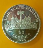 SV * Haiti  50  GOURDES  1973  FIFA C. M. Fotbal Germania 1974  ARGINT     AUNC+