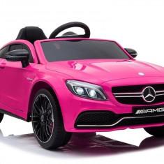 Masinuta electrica Mercedes-Benz C63S AMG, roz