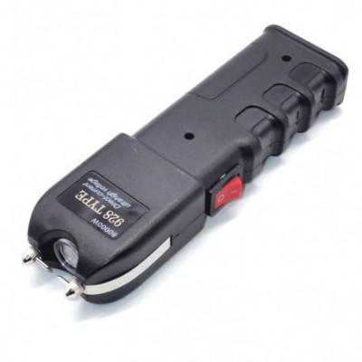 Electrosoc autoaparare cu lanterna, 50 kv, negru, Gonga foto