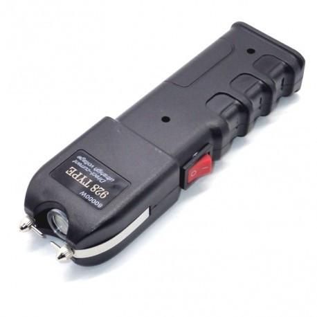 Electrosoc autoaparare cu lanterna, 50 kv, negru, Gonga