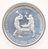 Moneda Canada 1 Dolar 1988 - KM#161 PROOF ( argint )