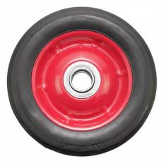 Roata carucior - cauciuc brut - rulment - 6x1.5 - MTO-GPA00024