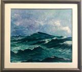 Peisaj marin- V. Donici BDI/284, Marine, Ulei, Realism