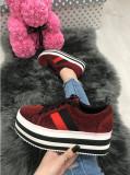 Adidasi dama rosii cu platforma marimea  38, 41+CADOU